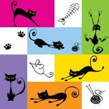 czarny koty Royalty Ilustracja