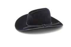 czarny kowbojski kapelusz Zdjęcia Royalty Free