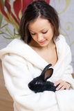 czarny królika kobiety potomstwa Obrazy Royalty Free