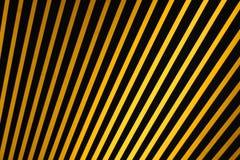 czarny krajobraz paskuje żółty Obrazy Royalty Free