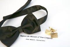 czarny krawat, Obrazy Stock