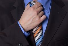 czarny krawat Zdjęcia Royalty Free