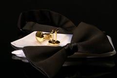 Czarny krawat Zdjęcia Stock