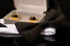 Czarny krawat Obraz Royalty Free