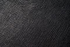 Czarny kropki tekstury tło od lather portfla Obrazy Stock