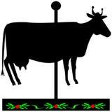 Czarny krowa znak ilustracja wektor