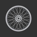 Czarny kruszcowy rowerowy koło Fotografia Stock
