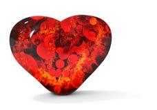 czarny krwawiący serce Zdjęcia Royalty Free