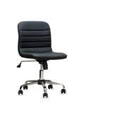 czarny krzesła skóry biuro odosobniony Obraz Stock