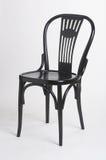 czarny krzesło schwarzer stuhl ii Obraz Royalty Free