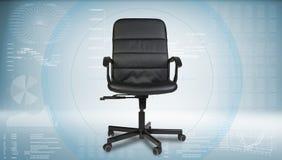 czarny krzesło skóry urzędu Obraz Royalty Free