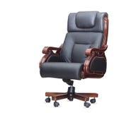 czarny krzesła odosobniony rzemienny biuro Zdjęcie Royalty Free
