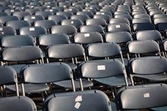 czarny krzeseł koncertowy stadium fotografia stock