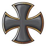 Czarny krzyż Obrazy Royalty Free