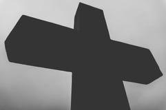 czarny krzyż Zdjęcia Royalty Free