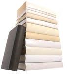 czarny książki jeden palowy biel Zdjęcia Stock