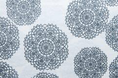 Czarny kwiatu wzór tkanina Obrazy Royalty Free