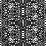 czarny kwiatu wzoru biel Obraz Royalty Free