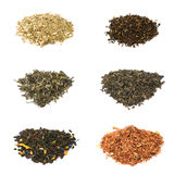 czarny kwiecista zielona ziołowa herbata Obrazy Royalty Free