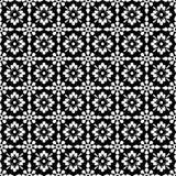 czarny kwiecisty bezszwowy biel Fotografia Royalty Free