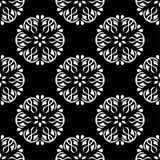 czarny kwiecisty deseniowy bezszwowy biel Obraz Royalty Free