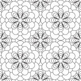 czarny kwiecisty deseniowy bezszwowy biel Zdjęcia Stock