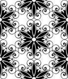 czarny kwiecisty ślimakowaty biel Obrazy Royalty Free