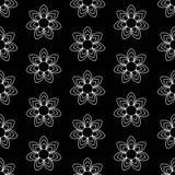 czarny kwiecisty wzór ilustracja wektor