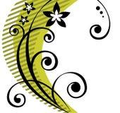 czarny kwiecisty wzór royalty ilustracja