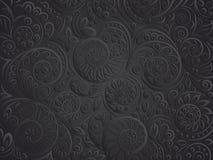 Czarny kwiecisty wzór dla kolorystyki książki w doodle stylu ilustracja wektor