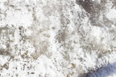 Czarny lód na chodniczku w mieście Obraz Royalty Free