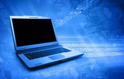 czarny laptop Zdjęcia Stock