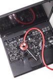 Czarny laptop Obrazy Royalty Free