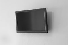 Czarny LCD lub DOWODZONY tv ekran Obraz Royalty Free