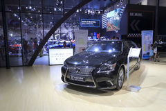 Czarny lexus samochód Obrazy Royalty Free