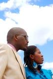 czarny ludzie biznesu Fotografia Royalty Free