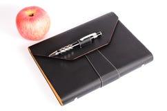 Czarny luksusowy organizator z jabłkiem Obrazy Stock