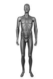 Czarny męski mannequin odizolowywający na bielu Zdjęcie Royalty Free