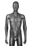 Czarny męski mannequin odizolowywający na bielu Obraz Royalty Free