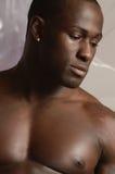 czarny męski portret obraz stock