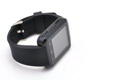 Czarny mądrze zegarek Fotografia Stock