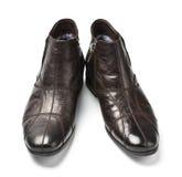 czarny męscy buty Fotografia Stock