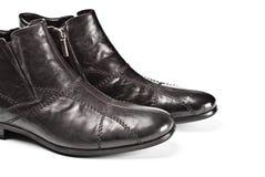 czarny męscy buty Obrazy Stock