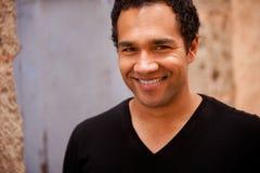 czarny męski portret Fotografia Royalty Free