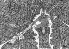 czarny magia ilustracja wektor