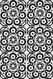 czarny mandala medytaci biel Fotografia Royalty Free