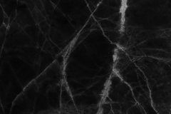Czarny marmur deseniował tekstury tło (naturalnych wzorów) Obrazy Royalty Free