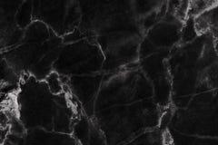Czarny marmur deseniował tekstury tło (naturalnych wzorów) Zdjęcie Royalty Free
