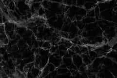 Czarny marmur deseniował tekstury tło (naturalnych wzorów) Obraz Stock