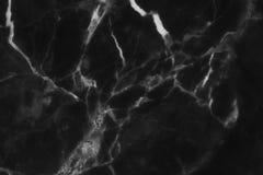 Czarny marmur deseniował tekstury tło (naturalnych wzorów) Fotografia Royalty Free
